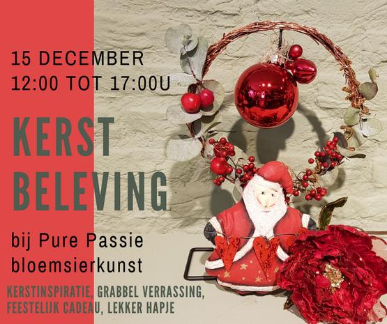kerstbeleving bij Pure Passie bloemsierkunst
