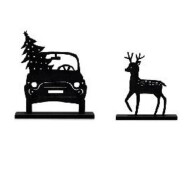 kerst set auto en rendier
